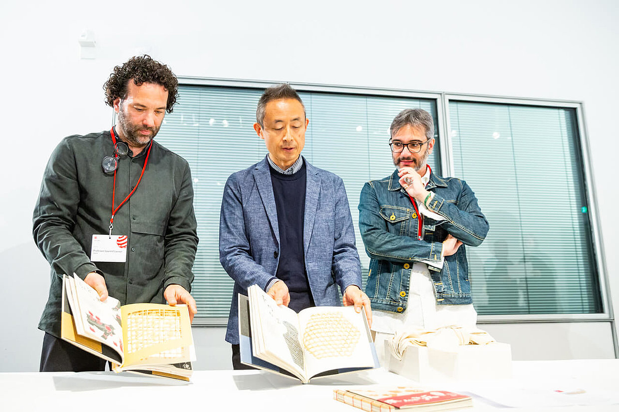 Laurent Lacour, Akira Kobayashi and Gustavo Greco (from left to right)