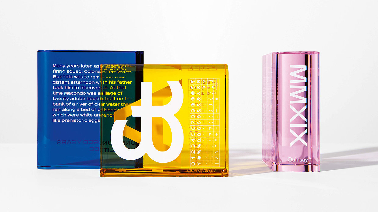 "The three bookends ""The Ice"", ""The Font"" and ""The Pink"""