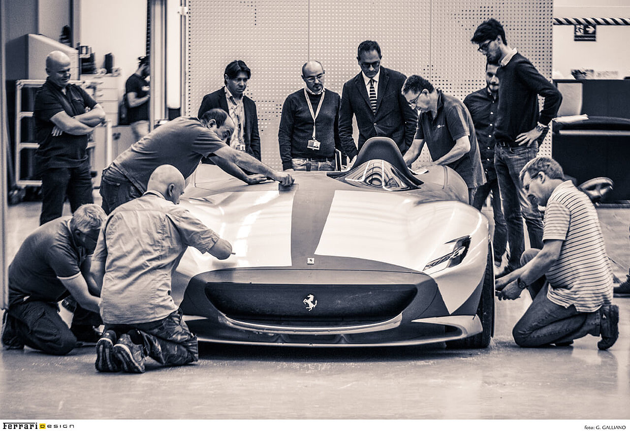 Flavio Manzoni and the Ferrari Design Team at work
