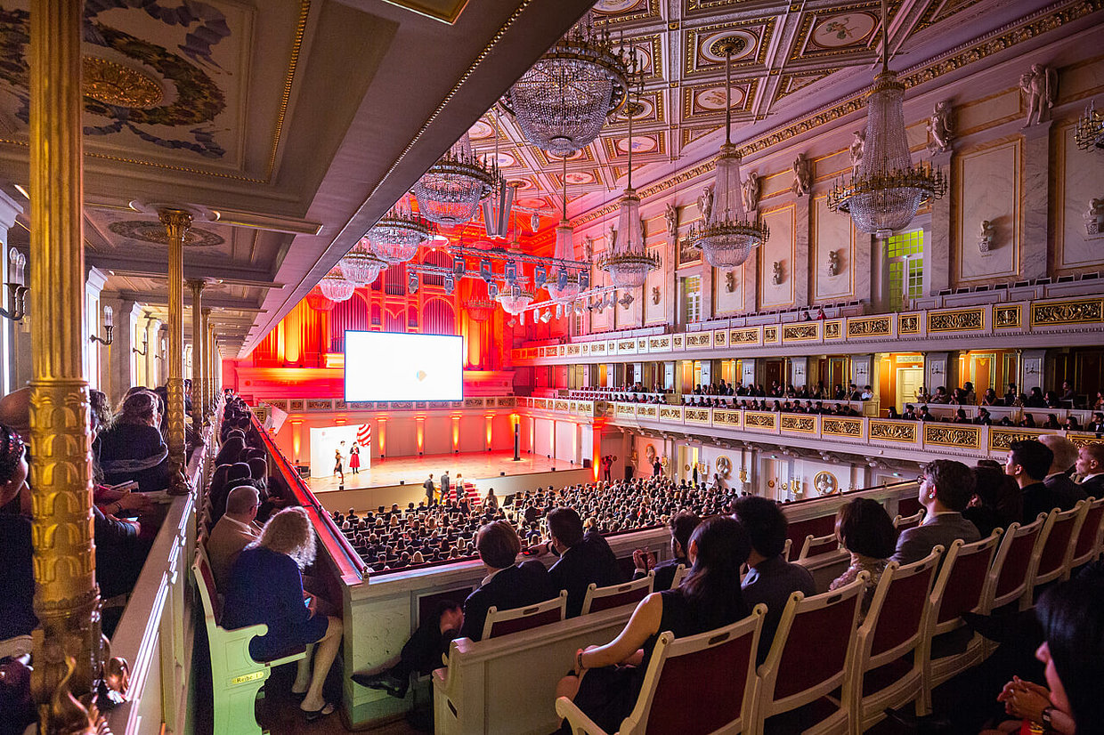 Special atmosphere during the Red Dot Gala