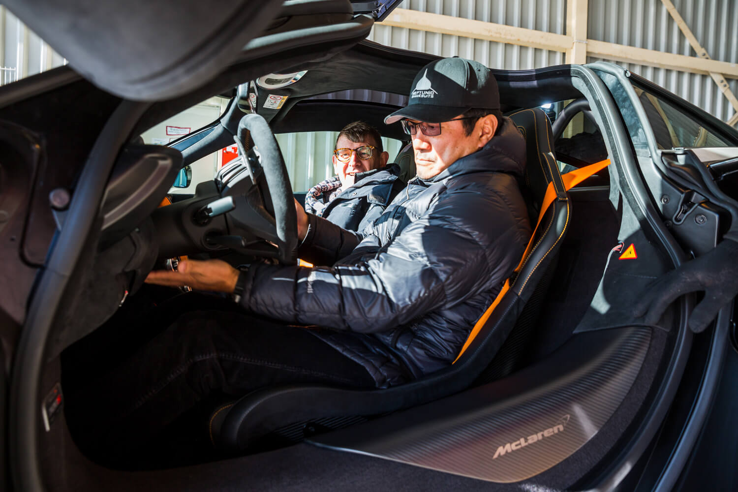 Martin Darbyshire and Ken Okuyama in the McLaren 720S