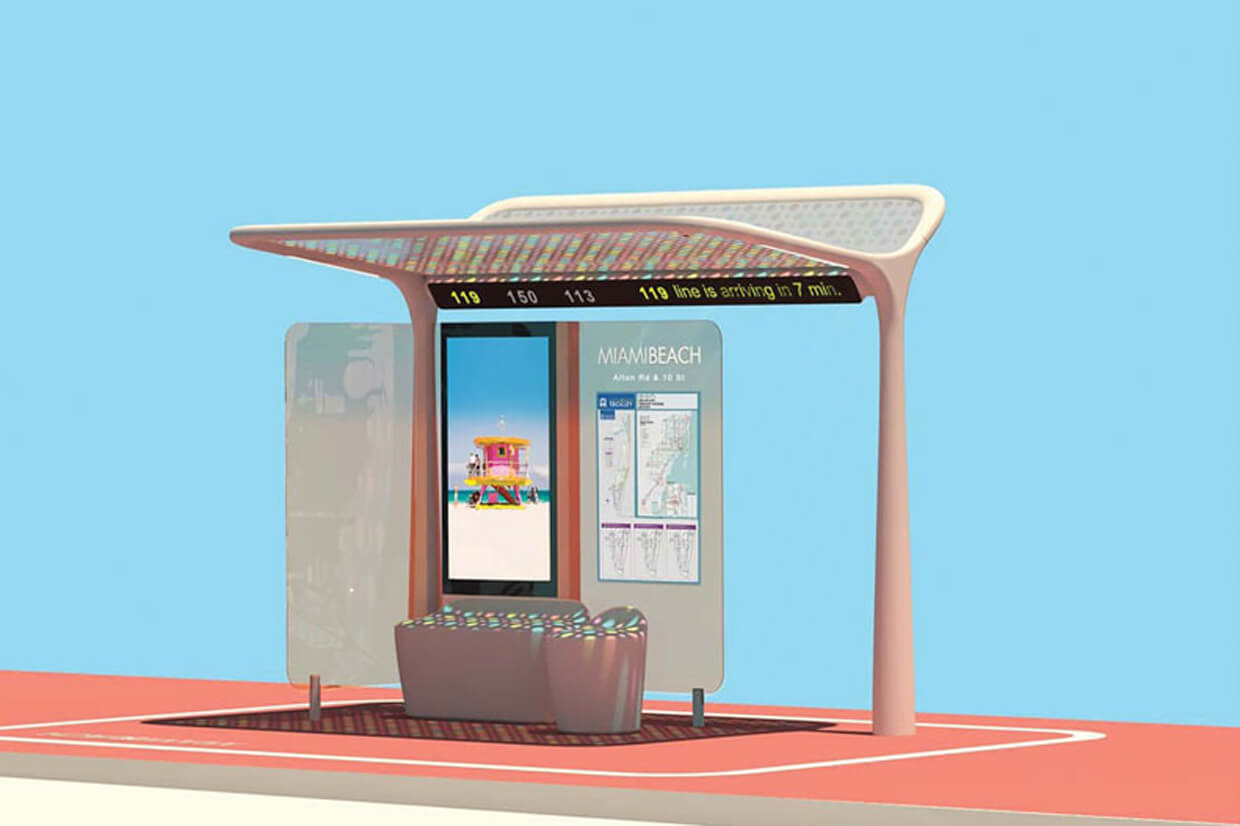 The design of the new bus shelters of Pininfarina