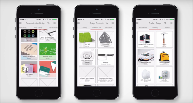 Red Dot Award Communication Design Winners Will Be Published In The Red Dot App Red Dot