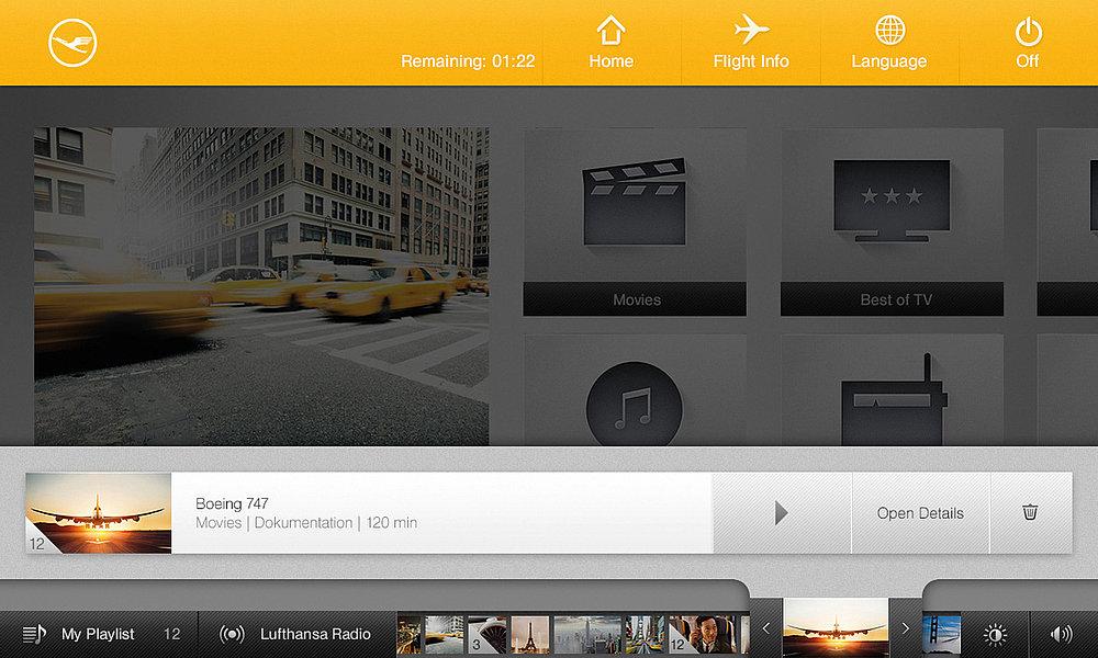 Lufthansa Inflight Entertainment System | Red Dot Design Award
