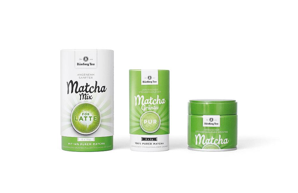 Bünting Tee  Matcha Pur &  Matcha Mix | Red Dot Design Award