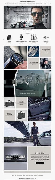 Relaunch Porsche  Design Online Shop | Red Dot Design Award
