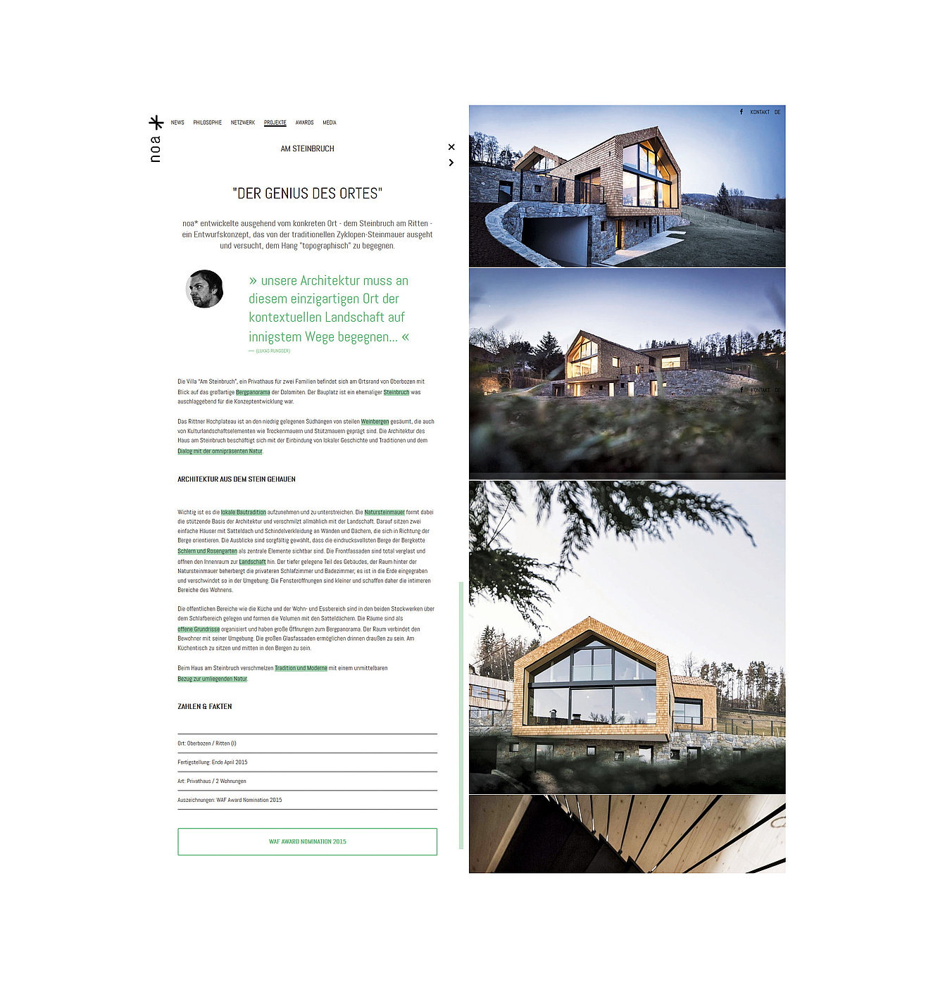 noa* – network of architecture | Red Dot Design Award