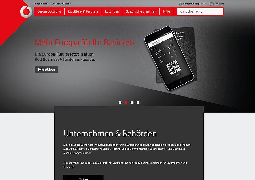 Vodafone Germany Enterprise   Red Dot Design Award