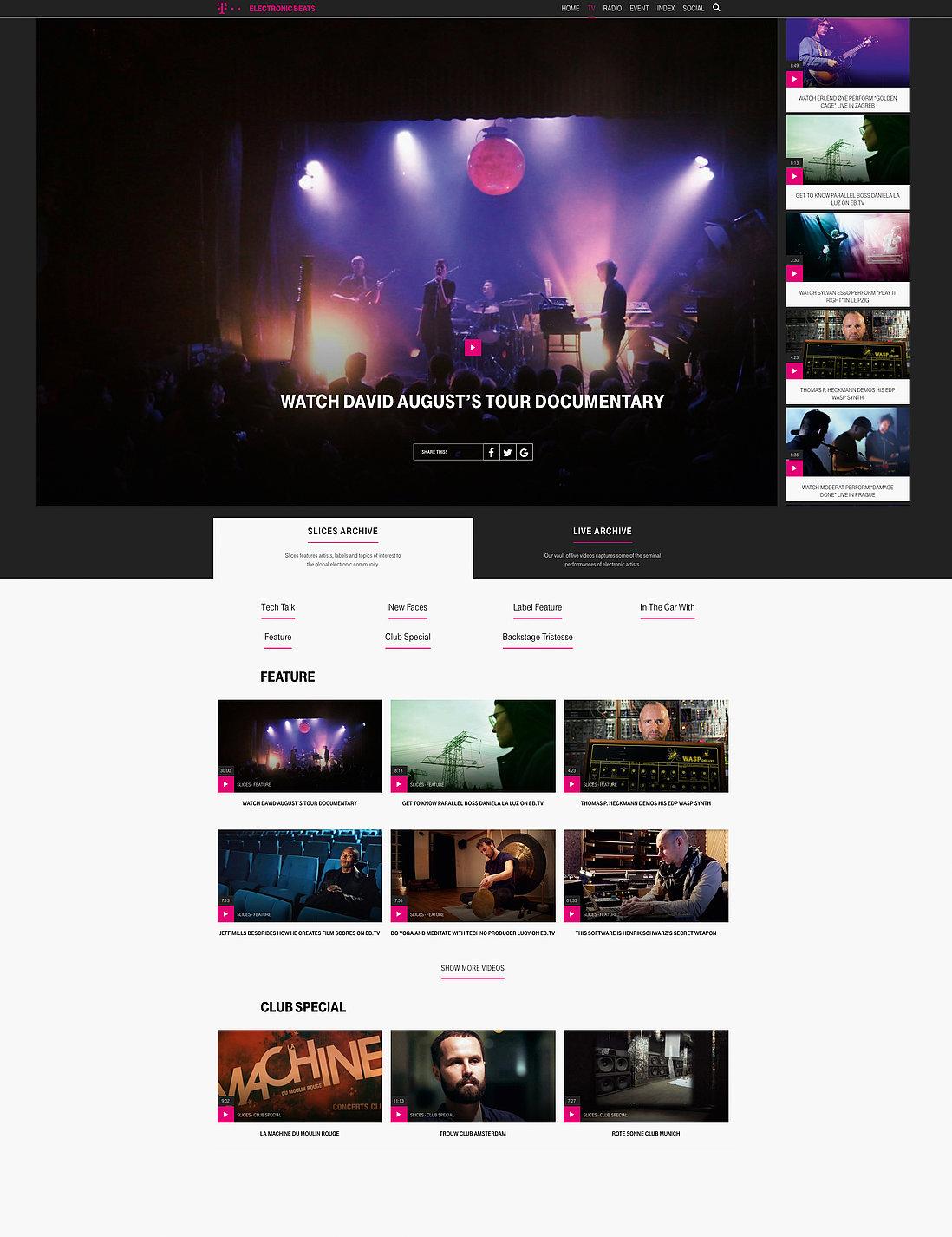 Telekom  Electronic Beats | Red Dot Design Award