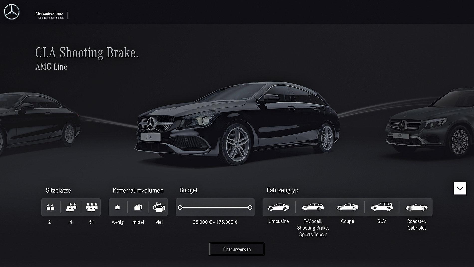 Mercedes-Benz  Lifestyle Configurator | Red Dot Design Award