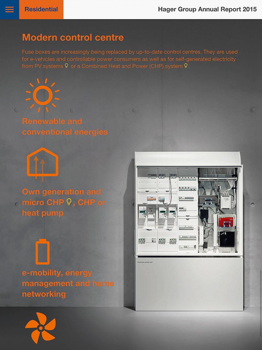 Red Dot Design Award Hager Group Annual Report 2015 Residential Well Pump Fuse Box Hagergroupcom