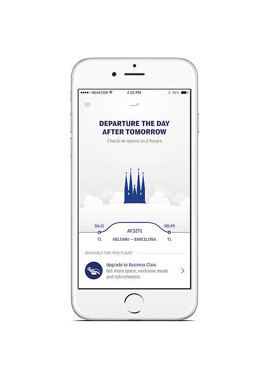 The Finnair Mobile Application | Red Dot Design Award