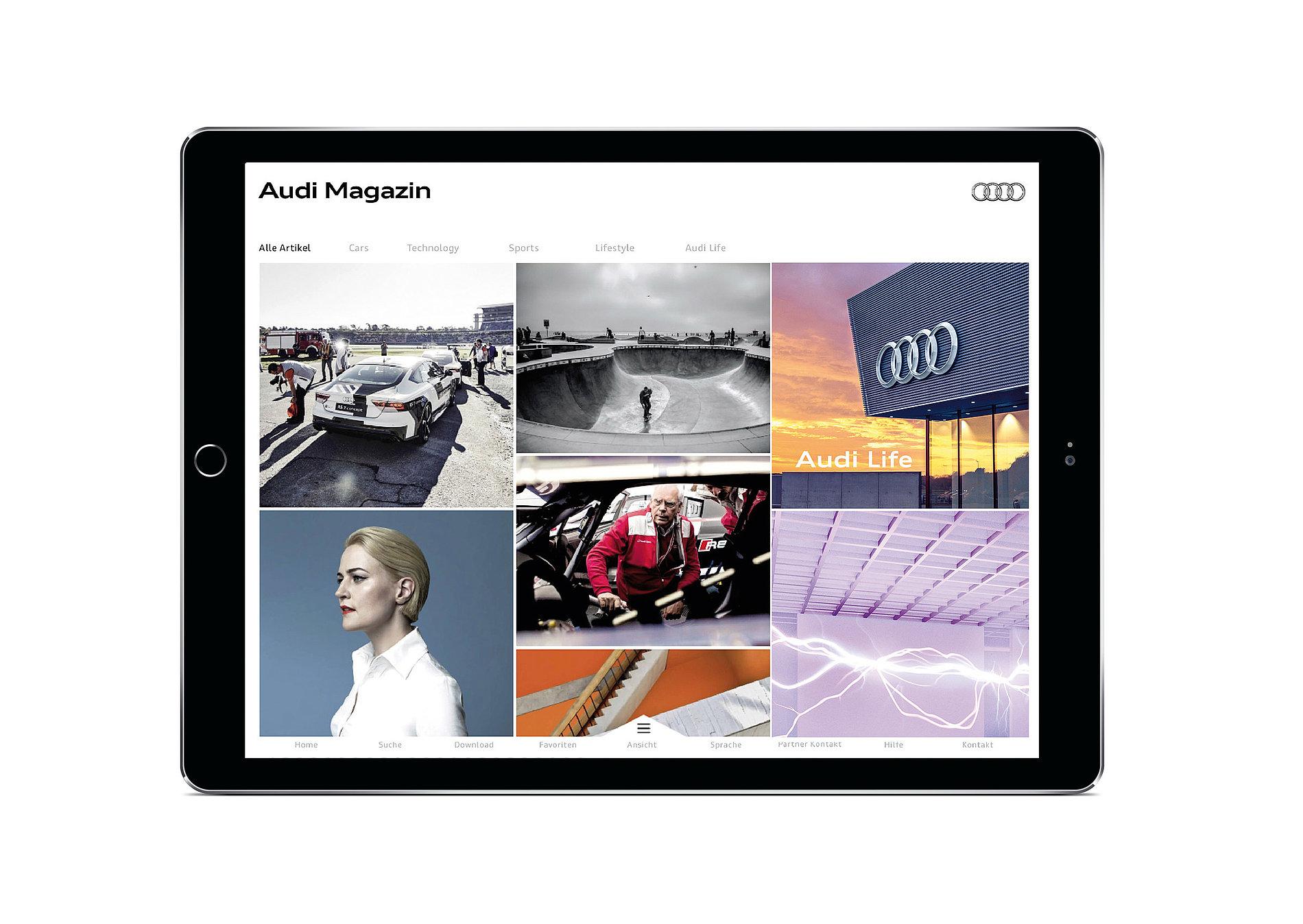 Audi Magazine App   Red Dot Design Award