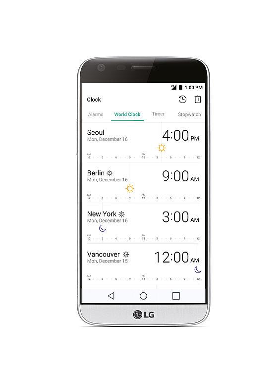 LG G5 World Clock | Red Dot Design Award