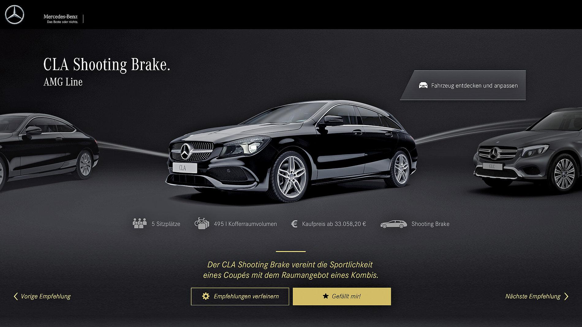 Mercedes-Benz  Lifestyle Configurator   Red Dot Design Award