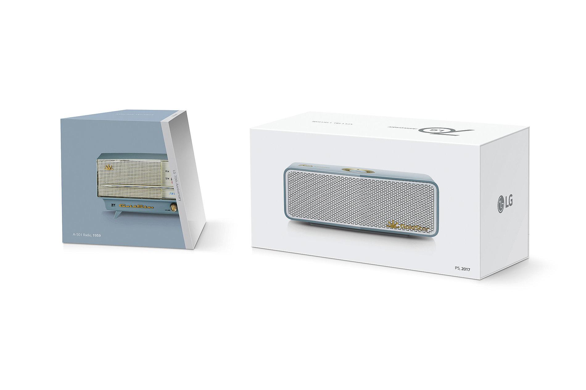 LG 70th Anniversary Portable Speaker Packaging | Red Dot Design Award