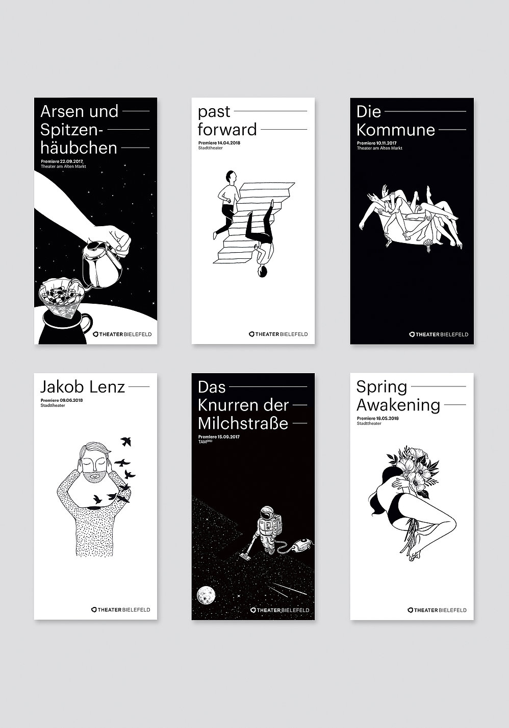 Theatre Bielefeld Season Cards | Red Dot Design Award