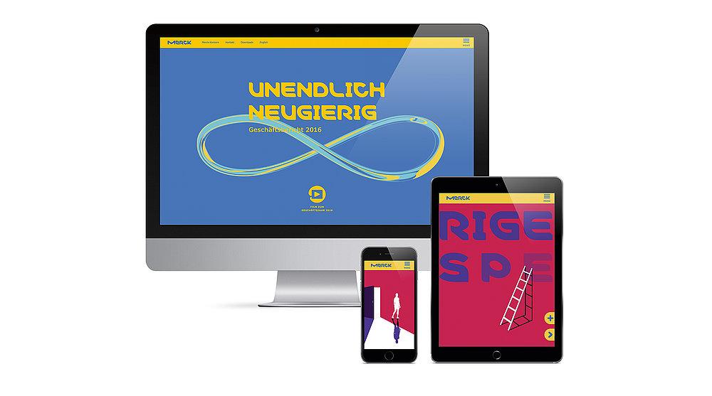 Merck Online Annual Report 2016 | Red Dot Design Award
