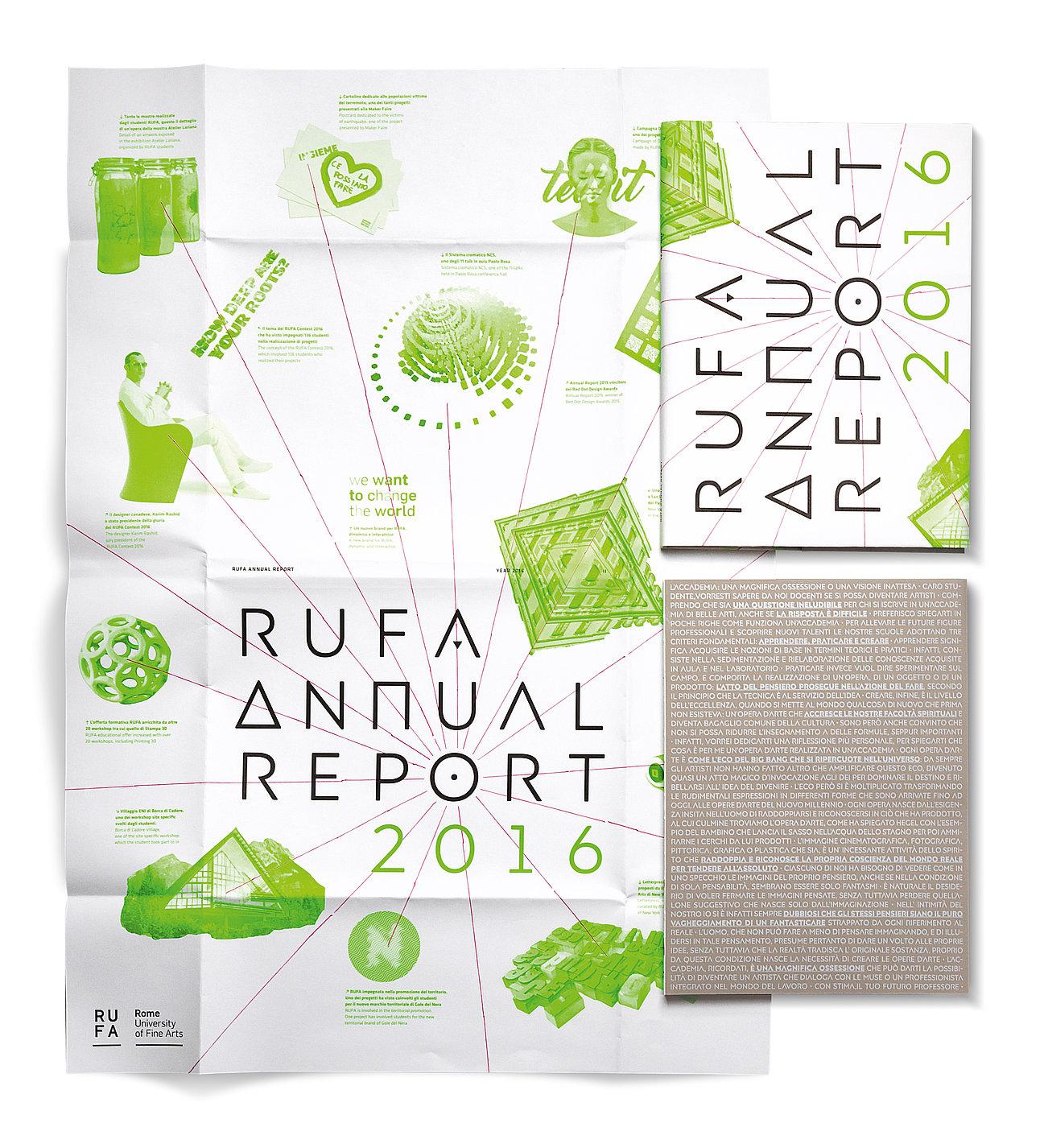 RUFA Annual Report 2016 | Red Dot Design Award