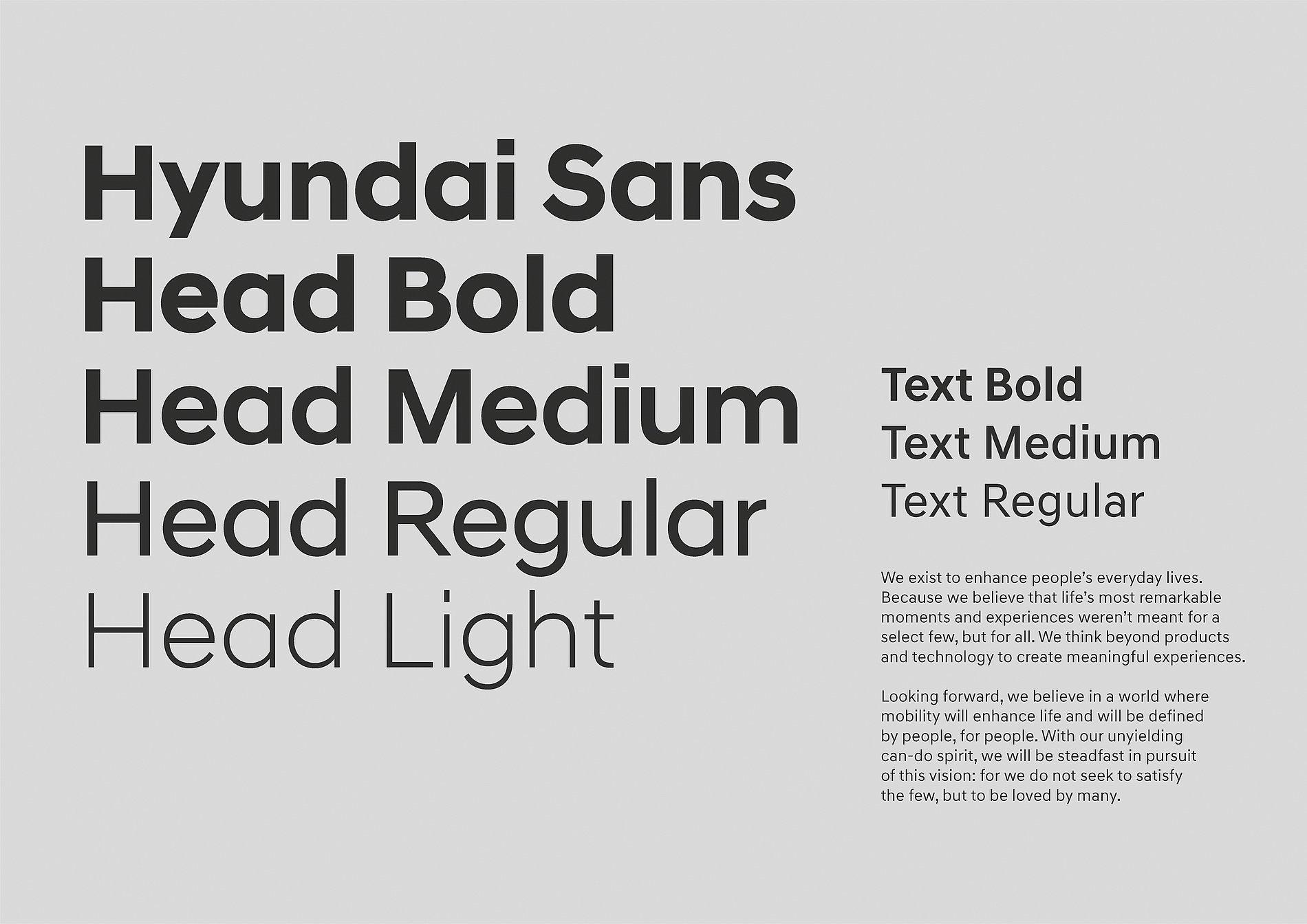 Hyundai Sans | Red Dot Design Award