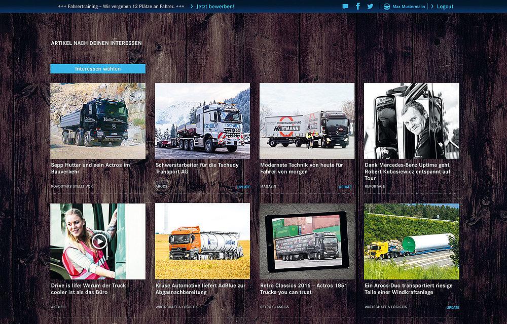 roadstars powered by mercedes benz trucks - Mercedes Benz Bewerbung