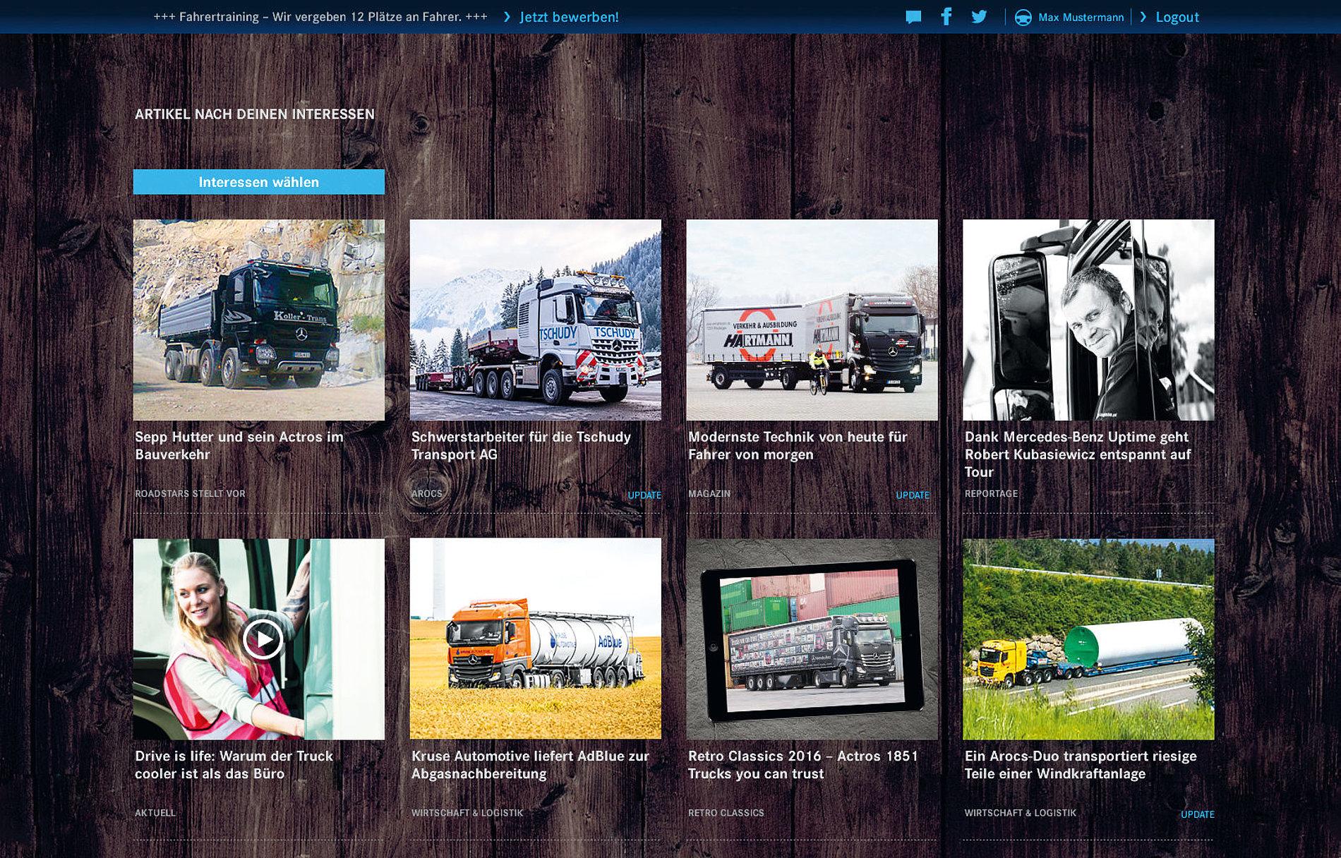 RoadStars powered by Mercedes-Benz Trucks   Red Dot Design Award