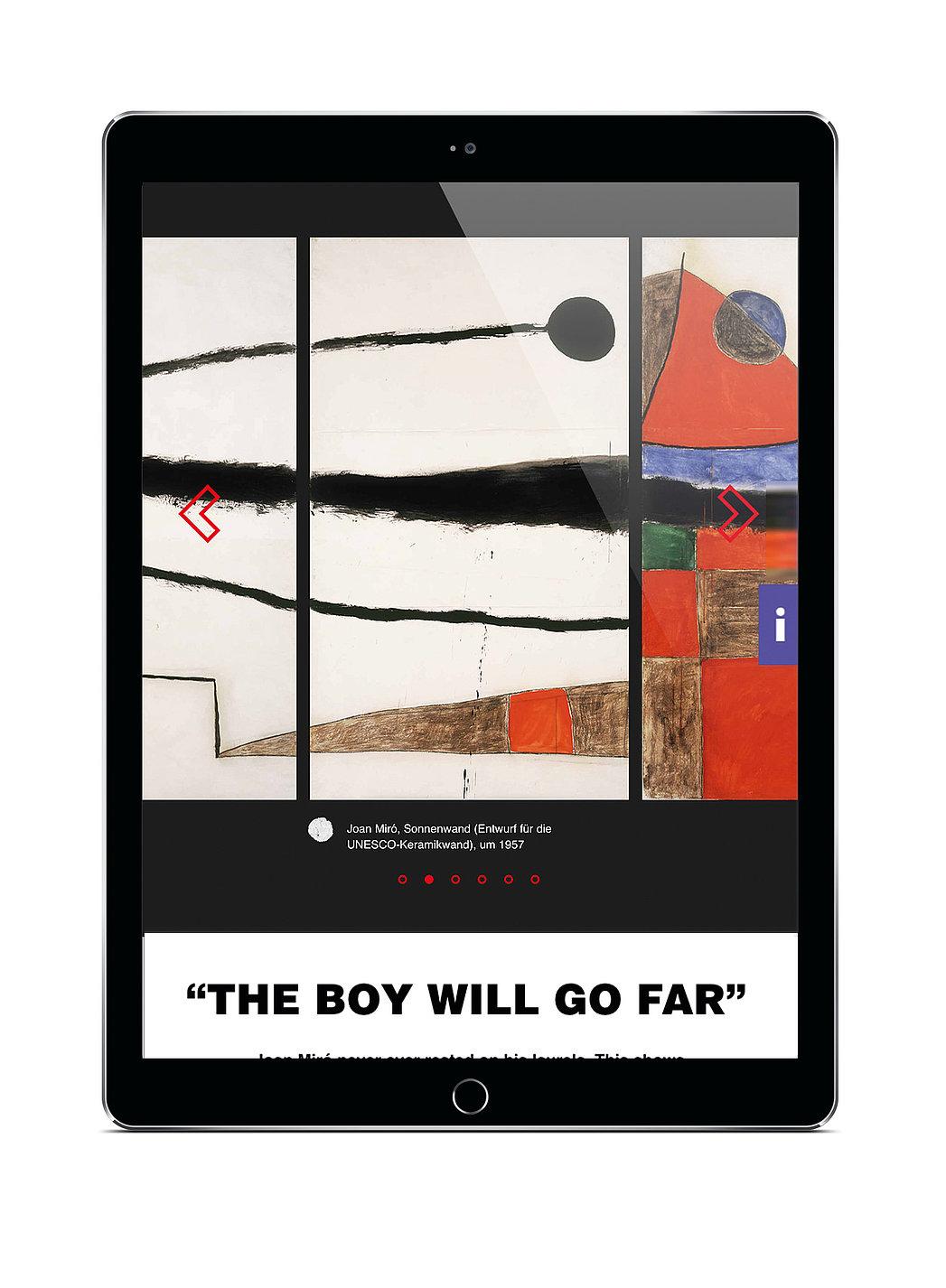 Joan Miró – Painting Walls, Painting Worlds | Red Dot Design Award