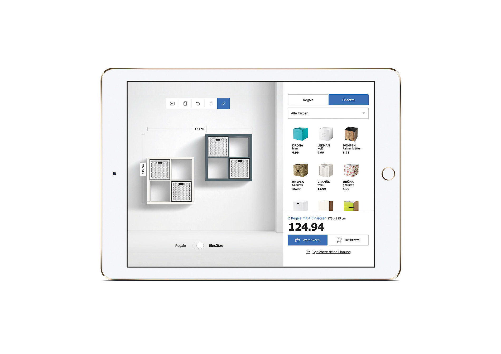 IKEA 3D Shelf Configurator   Red Dot Design Award