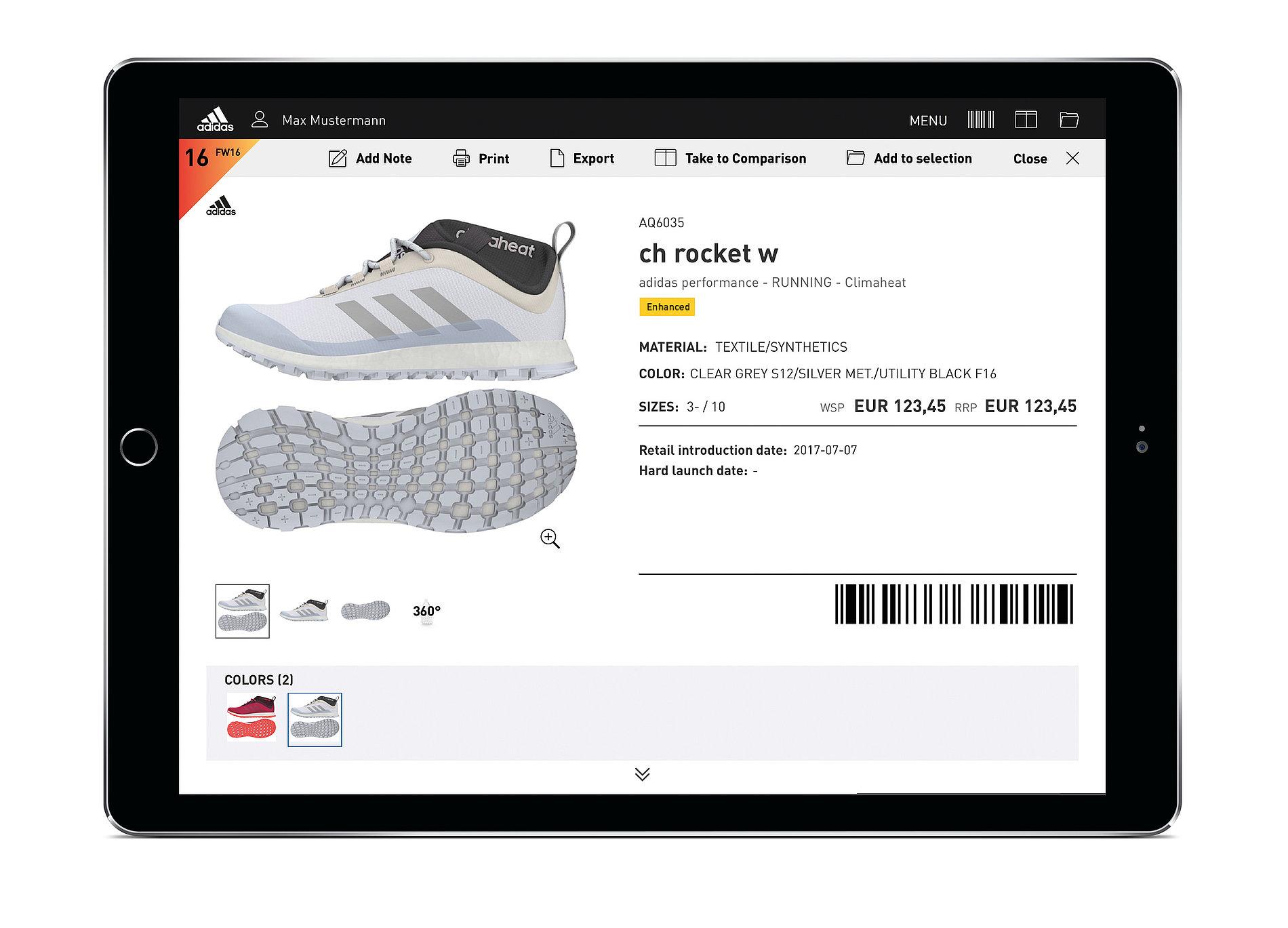 adidas eCatalogue | Red Dot Design Award