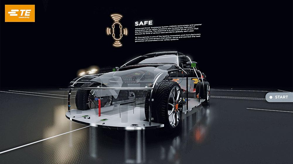 TE Connectivity: Virtual Connected Car 3D Product Explorer | Red Dot Design Award