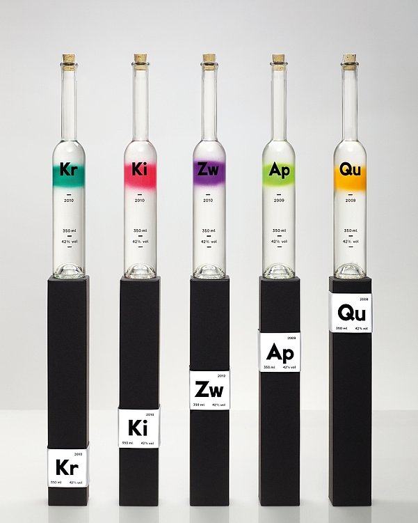 Rezept-Destillate Fruit Spirits | Red Dot Design Award