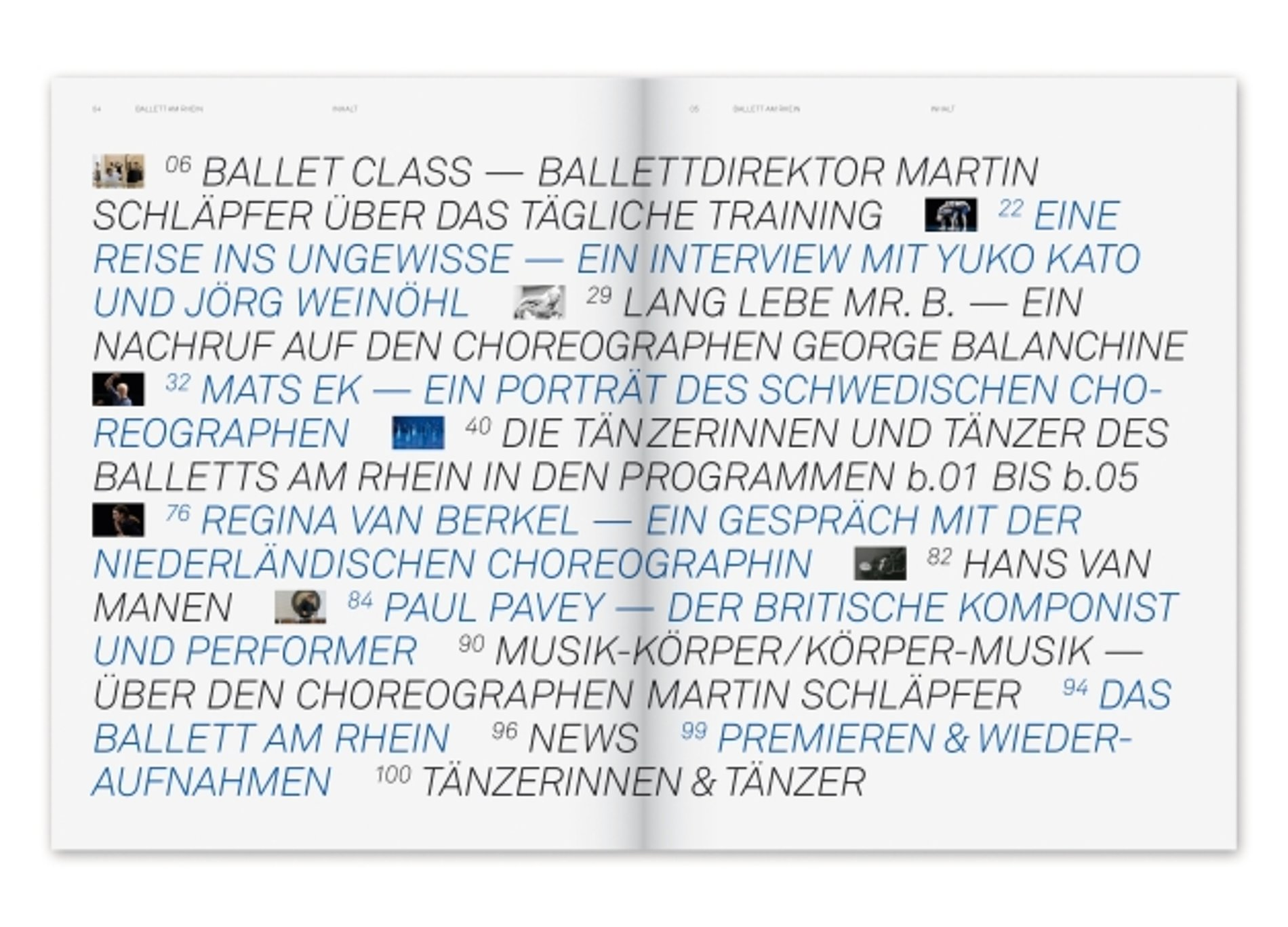 b – No. 1 Magazin des Balletts am Rhein | Red Dot Design Award