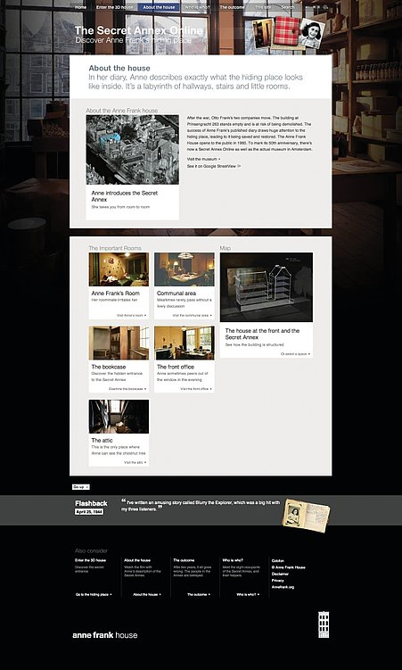 The Secret Annex Online   Red Dot Design Award