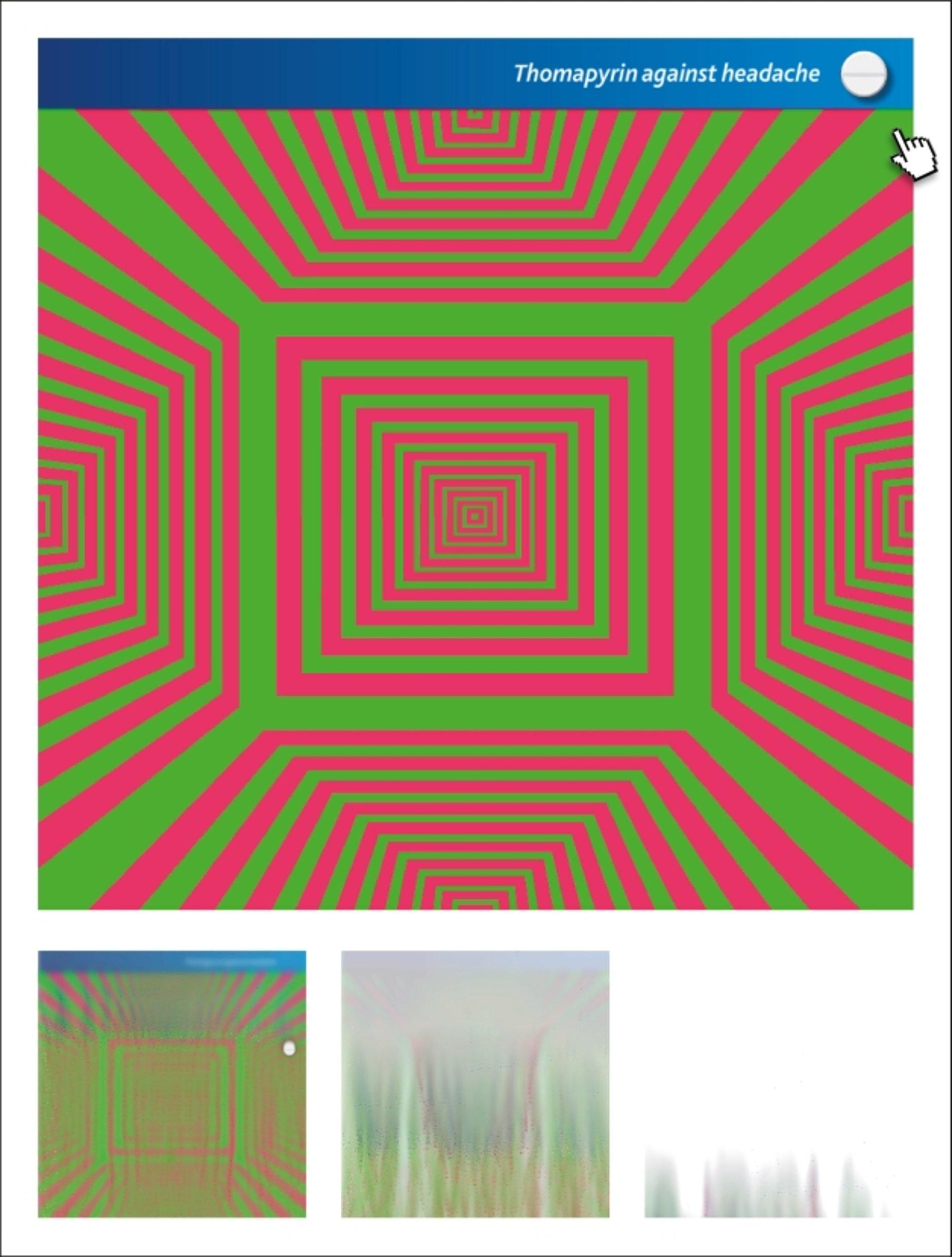 Op Art Banner – Twist, Würfel und Spirale | Red Dot Design Award