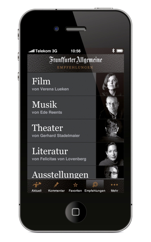 F.A.Z. iPhone App | Red Dot Design Award