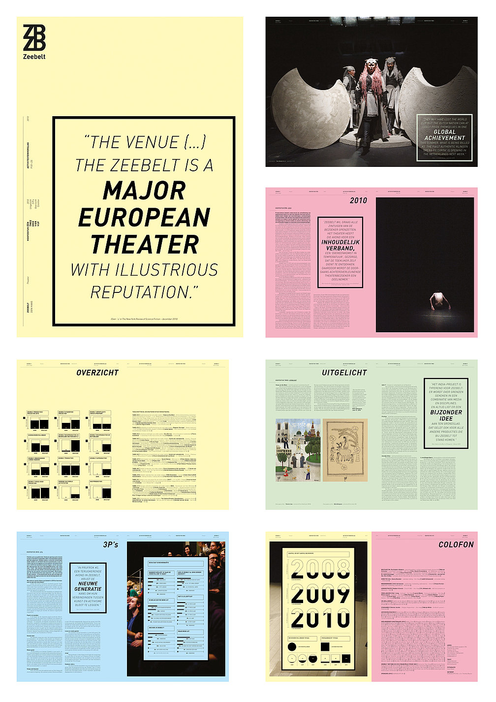 """""""The venue (…) The Zeebelt  is a major European theater  with illustrious reputation."""" 