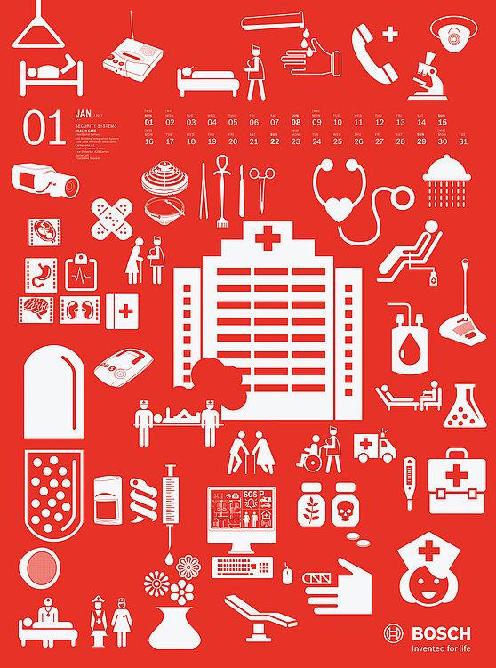 Bosch 2012  Wall Calendar | Red Dot Design Award