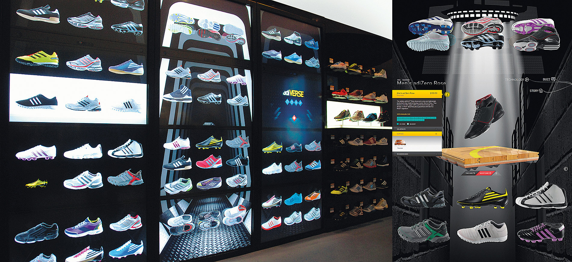 adidas Virtual  Footwear Wall –  F50 Launch | Red Dot Design Award