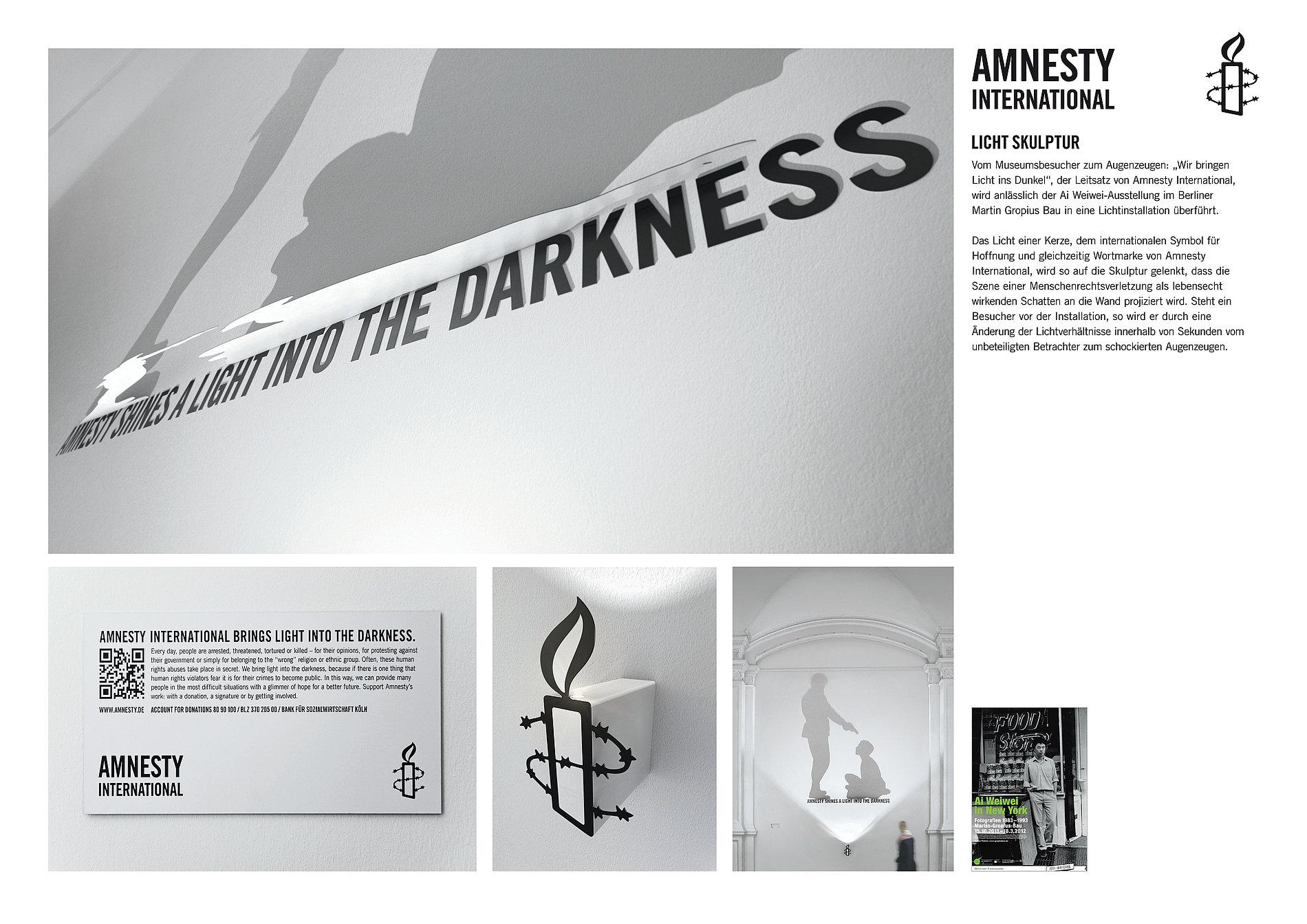 Amnesty International  Light Sculpture | Red Dot Design Award