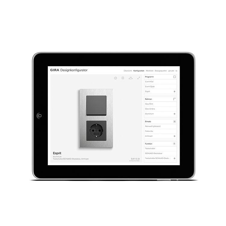 Gira  Designkonfigurator | Red Dot Design Award