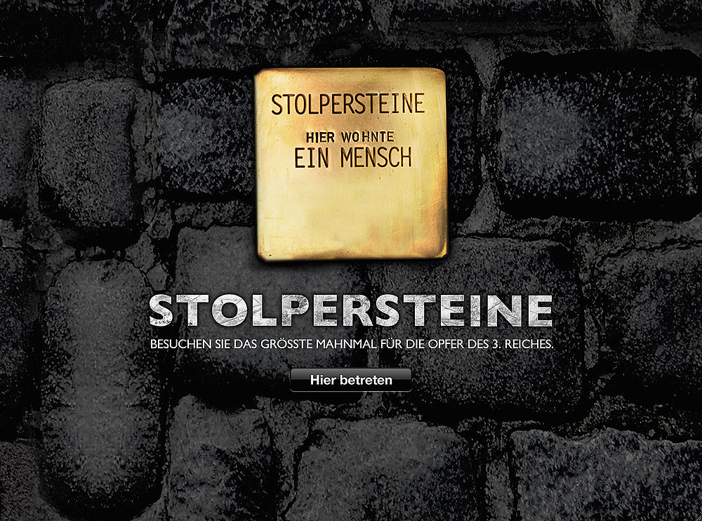 Online Stolpersteine | Red Dot Design Award
