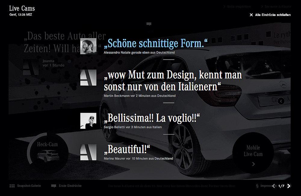 Mercedes-Benz  A-Class  First Impression   Red Dot Design Award