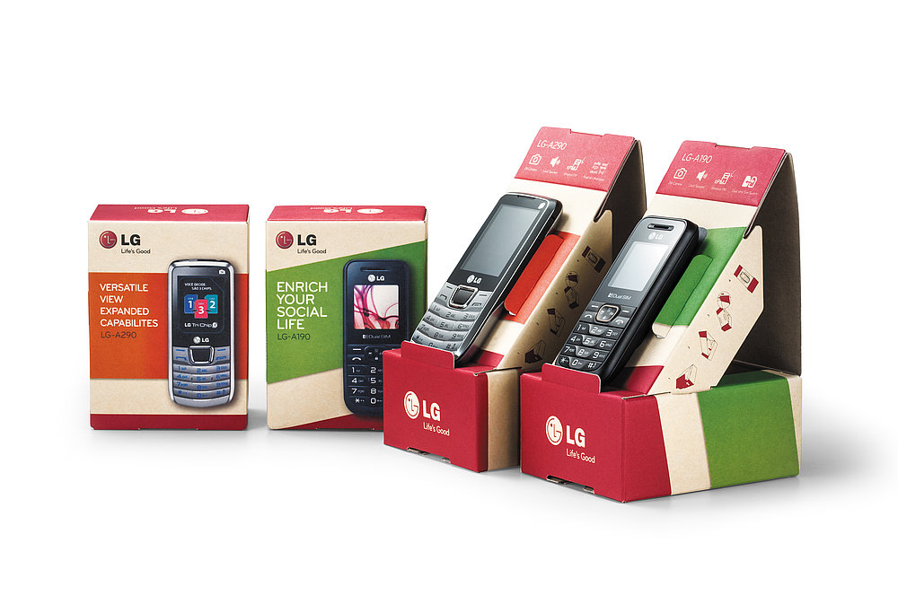 LG Feature Phone Packaging | Red Dot Design Award