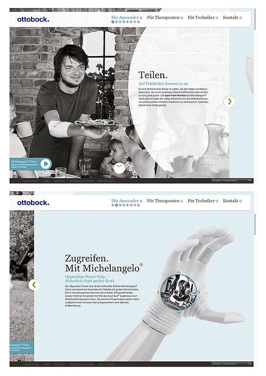 Ottobock. Living with Michelangelo. | Red Dot Design Award