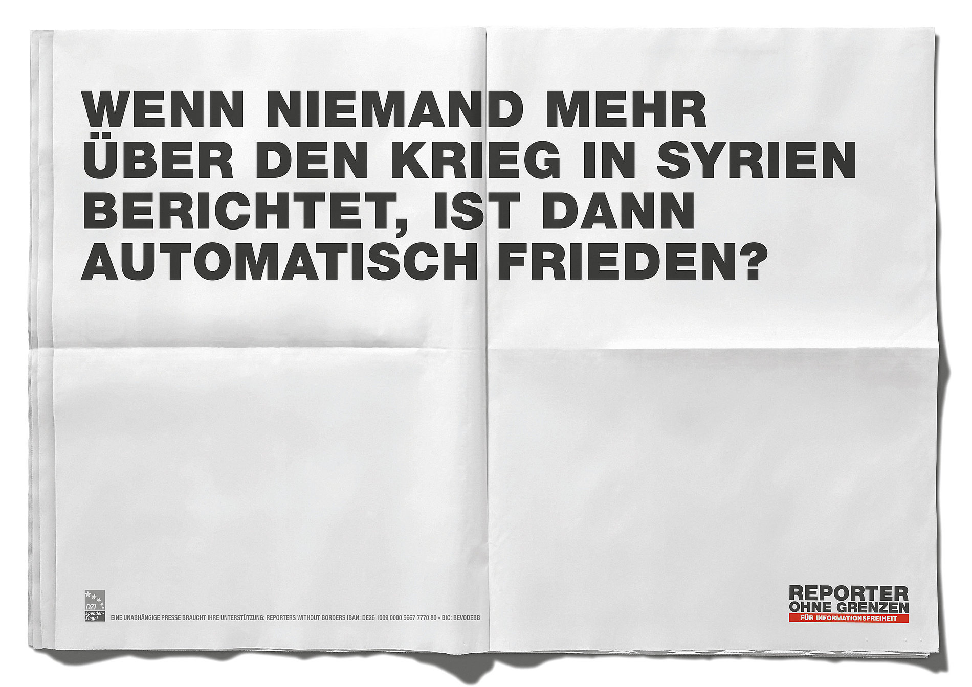 Reporter ohne Grenzen – Fragen | Reporters without Borders – Questions | Red Dot Design Award