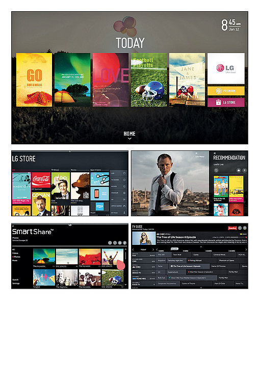 Web OS TV Interface | Red Dot Design Award