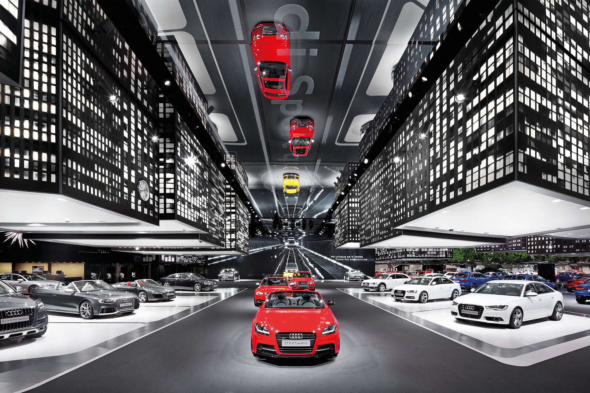 """""""A Change in Perspective""""   Audi Fair Stand IAA 2013   Red Dot Design Award"""