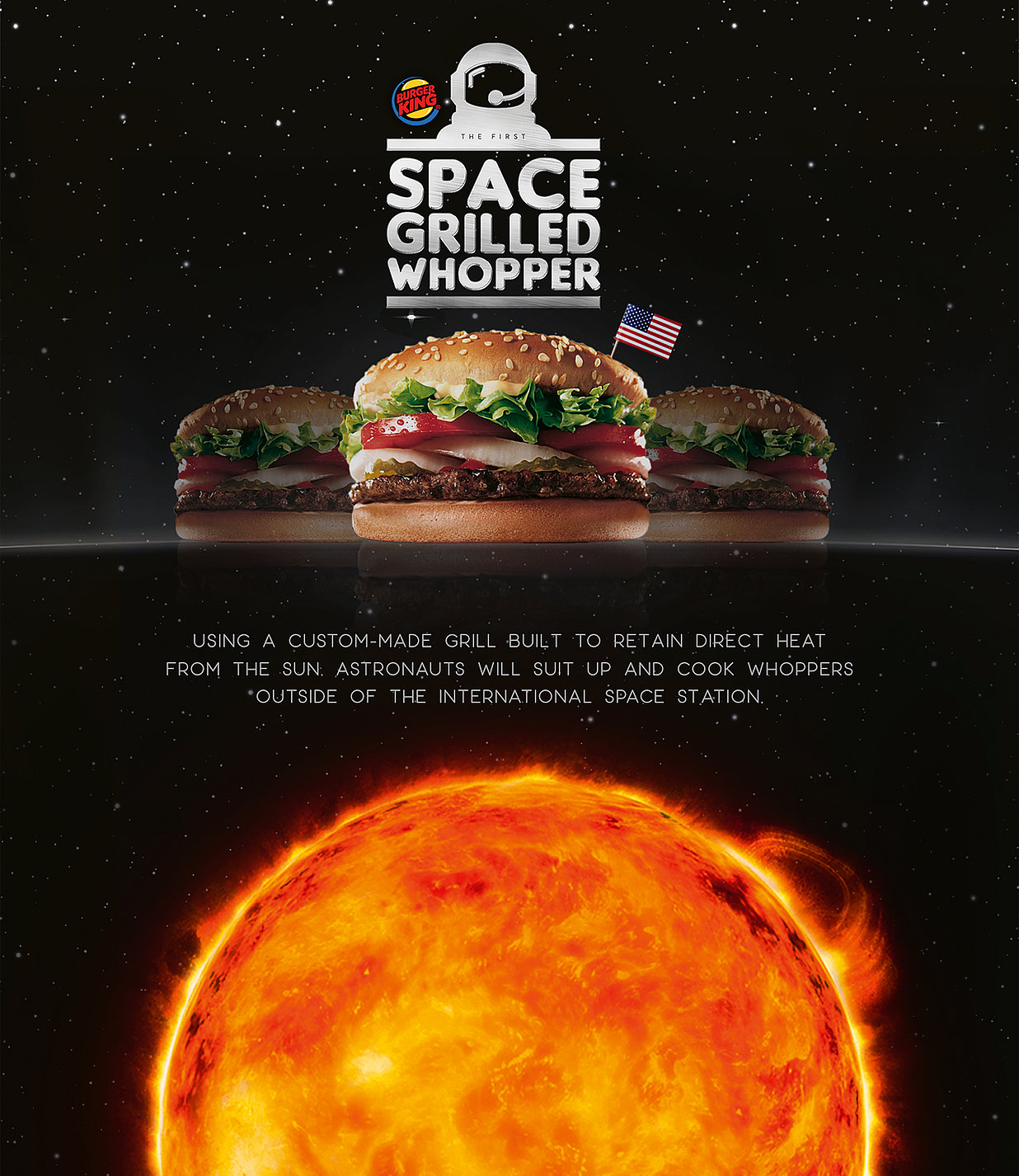 Space Grilled Whopper | Red Dot Design Award