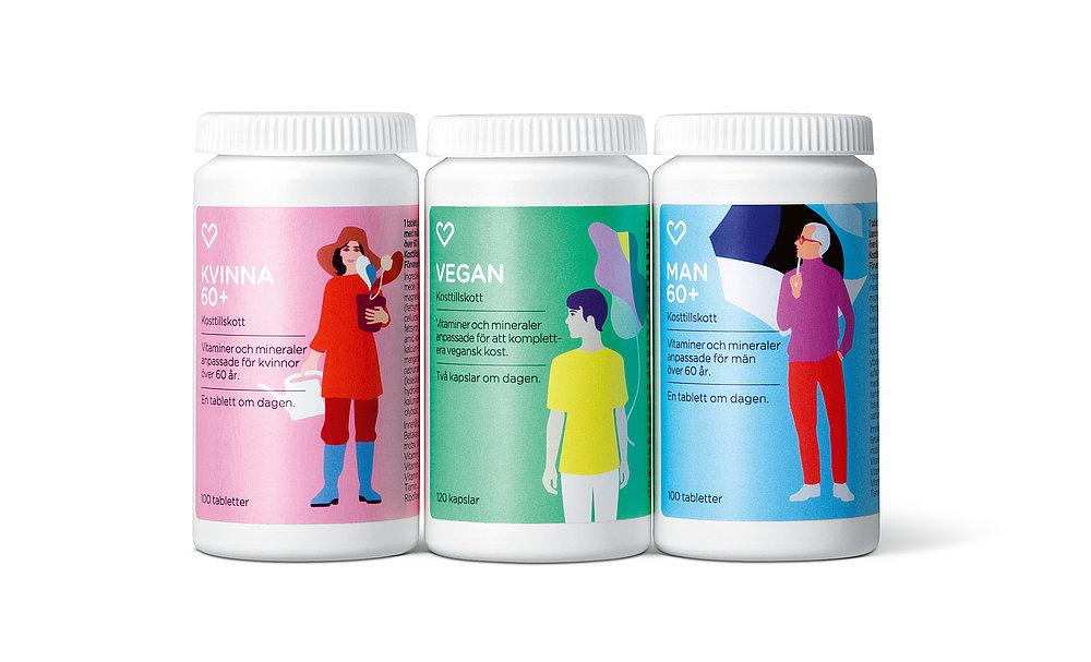 Apotek Hjärtat – Multivitamin Supplements | Red Dot Design Award