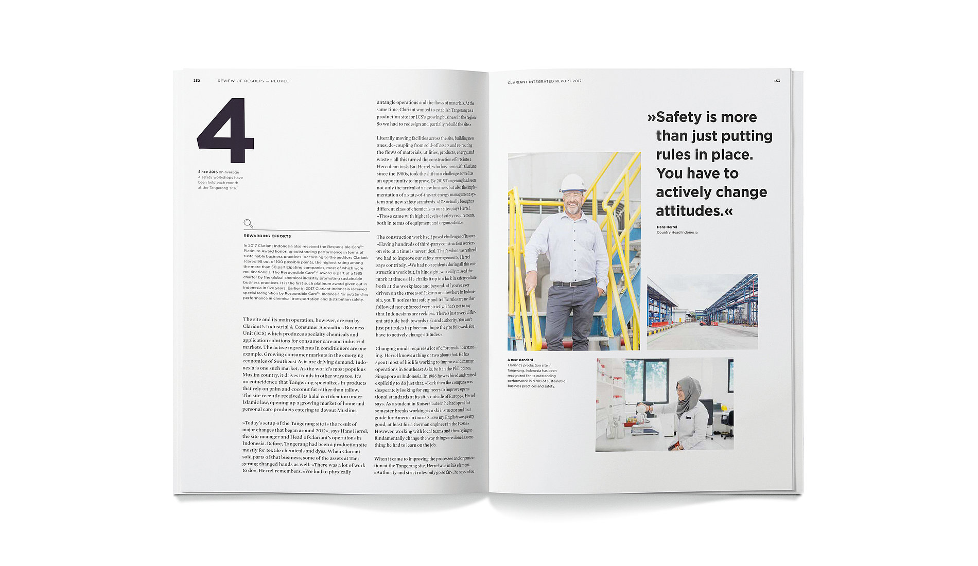 Clariant Integrated Report 2017 | Red Dot Design Award
